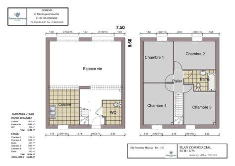 plan maison r 1 plan maison 80m2 r 1