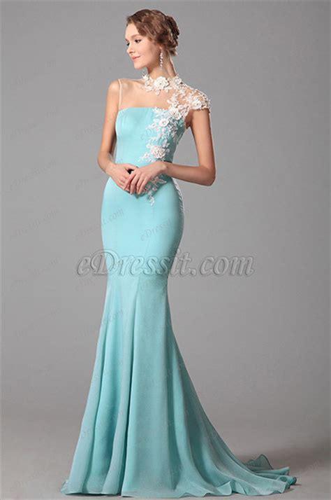 light blue evening gown edressit lace neck light blue evening dress formal gown