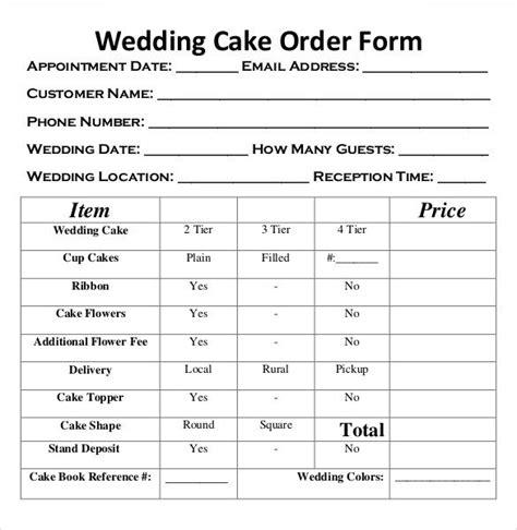 image result  cake order form template