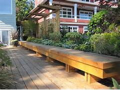 Garden Bench Seating by Long Upholstered Bench Patio Traditional With Bench Fence Trellis Wood Beey