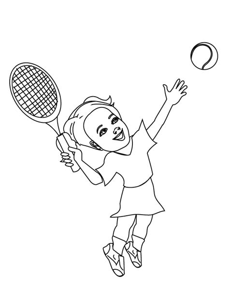 coloring pages playing tennis
