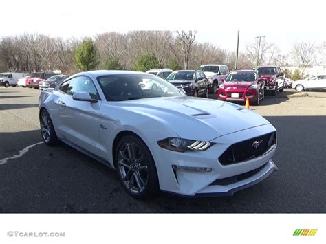 oxford white ford mustang gt premium fastback
