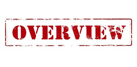 Overview stock vector. Illustration of word, rectangular ...
