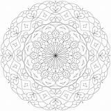 Mandala Sundial Coloring Pages Template Mandalas sketch template