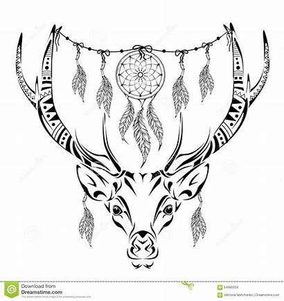 Deer Coloring Adult Stress Anti Magic Background
