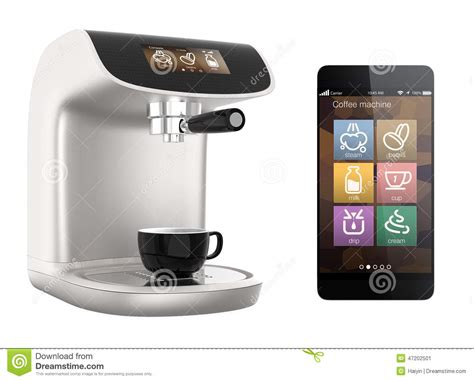 Smart Phone Apps For Coffee Machine. Original Design Stock Illustration   Image: 47202501
