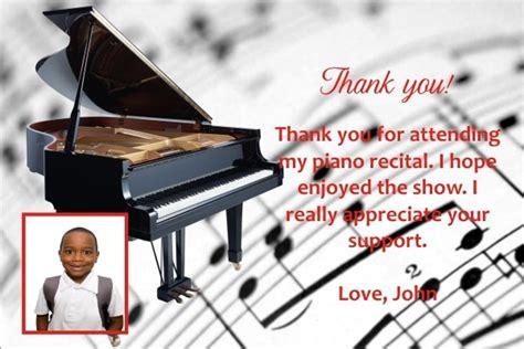 piano recital   card personalized party invites