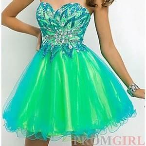 green dress prom dress dress short prom dress turquoise