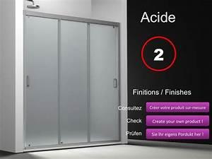 paroi de douche longueur 180 porte de douche 3 panneaux With porte douche 3 panneaux coulissants