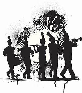 Marching Band Silhouette Clip Art, Vector Images ...
