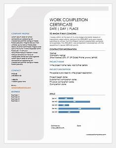 Report Formats Word 9 Best Work Completion Certificates For Ms Word Word