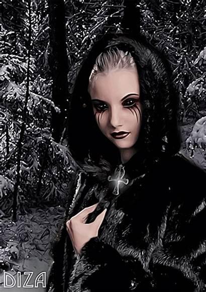 Vampire Animated Gothic Lady Gifs Magic Monday