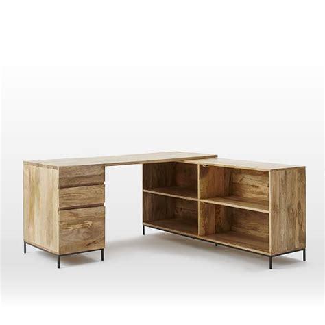 west elm industrial desk industrial modular desk set box file bookcase west elm