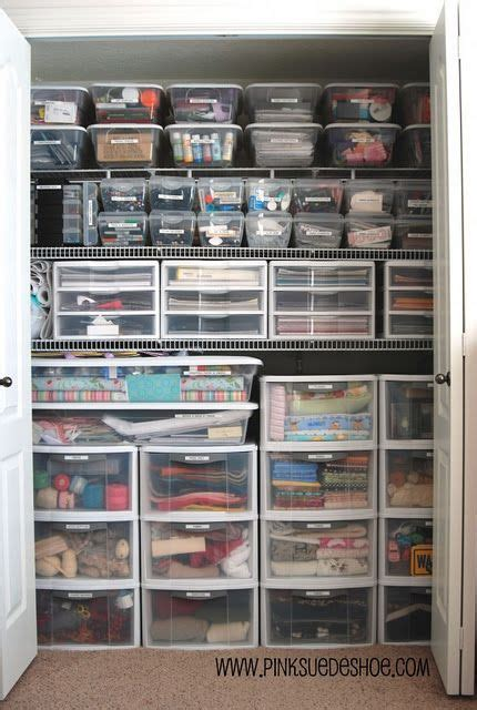 Closet Organization Ideas For Crafts by If I Could Organize My Craft Supplies Like This It Would