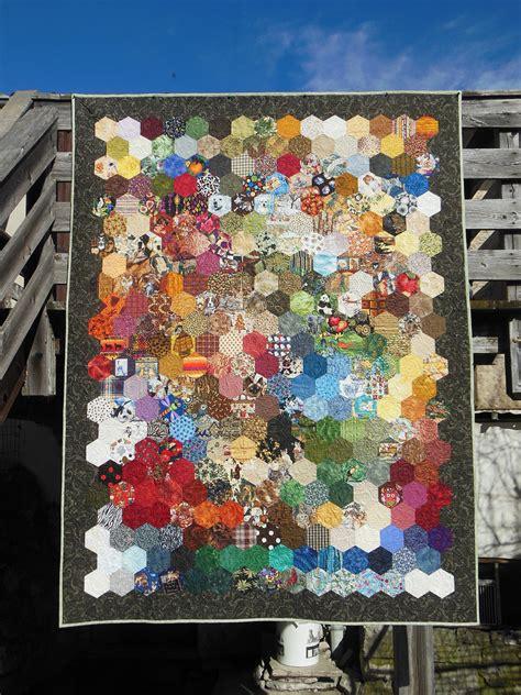 plaid pour canap 233 ou couvre lit 2 places en v 233 ritable patchwork assemblage d hexagones motifs