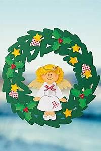 Bastelideen Weihnachten Kinder : engel fensterbild basteln ~ Markanthonyermac.com Haus und Dekorationen