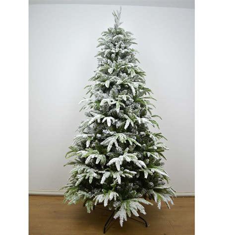 snowiest fake tree real look designer artificial tree snow covered decorations ebay