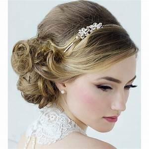 coiffure mariage retro boheme With bijoux de tete mariee