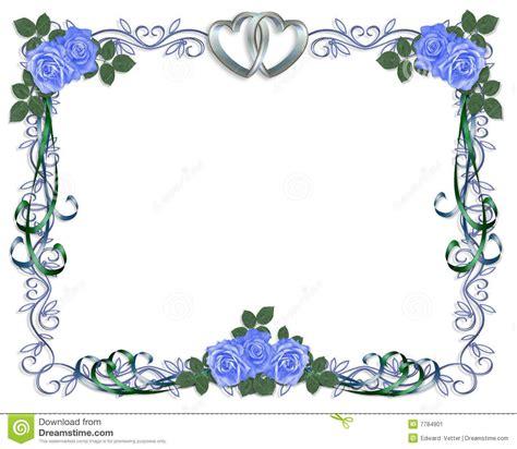 wedding invitation blue roses border stock image image