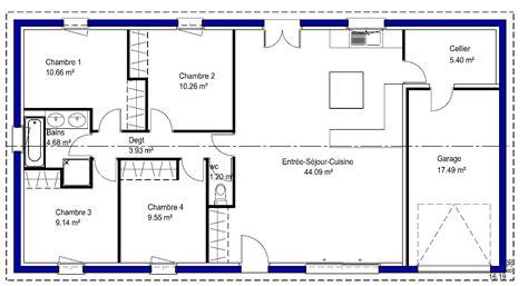 plan maison 4 chambres gratuit cool fabuleux plan des maison simple maisons lara