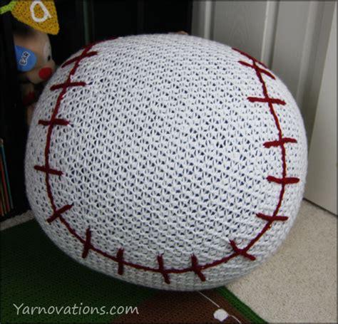 baseball bean bag chair pouf only