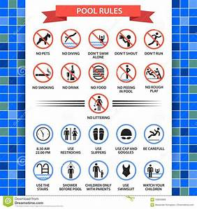 Pool Rules Poster Stock Vector  Illustration Of Label