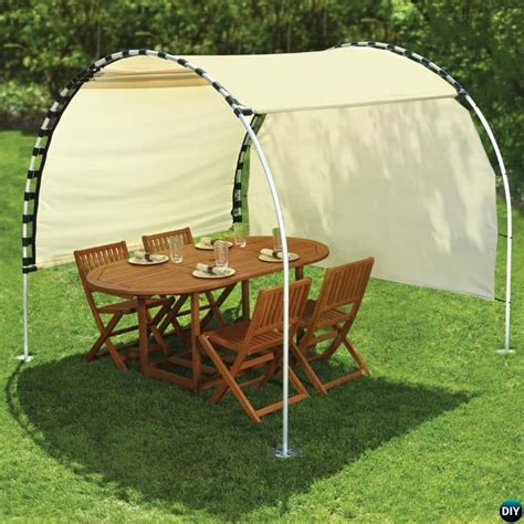 canap pvc diy outdoor suntracking pvc canopy shelter diyhowto diy