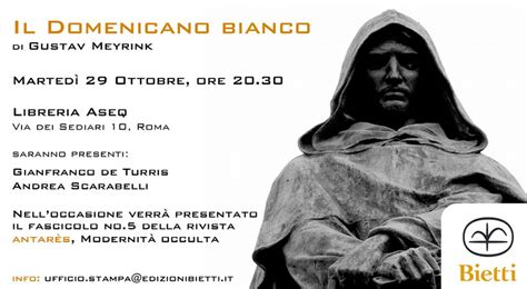 Libreria Aseq Roma by Mappa Evento Presentazione Libro Di Gustav Meyrink Il