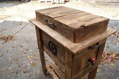 vintage rustic wooden cooler ice chest wooden ice box country cooler cowboy cooler