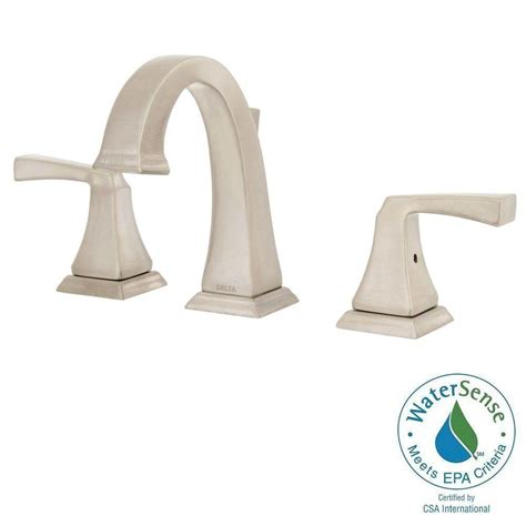 delta dryden 8 in widespread 2 handle bathroom faucet
