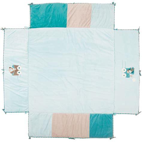 tapis de parc gaston cyril 100x100 cm de nattou chez naturab 233 b 233