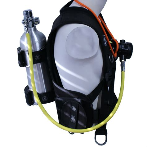 pony bcd bottle harness scuba regulator setup backpack xs