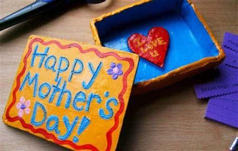 preschool crafts  kids mothers day clay keepsake box