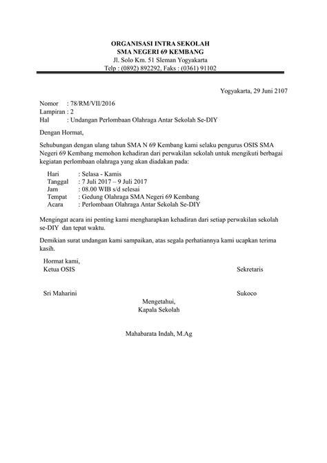 contoh surat undangan resmi  sesuai kebutuhan