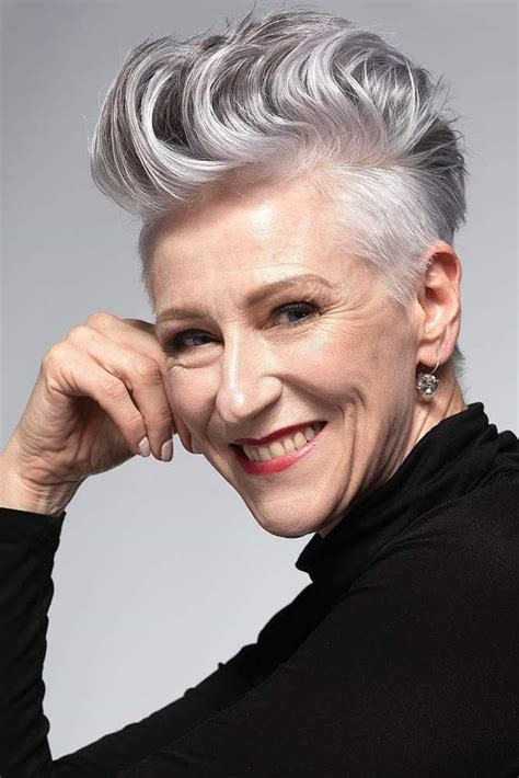 I will probably never color my hair again but included a few with blonde color for others who may feel differently. 25 Stylish Hairstyle for Older Women 2021 - Haircuts ...