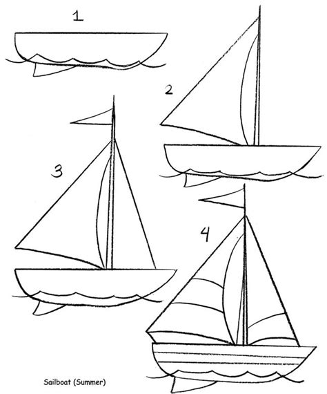 How To Draw A Boat Sailing by Best 25 Sailboat Drawing Ideas On Boat