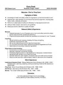 restaurant cook experience resume exle restaurant cook resume sle resumes design