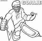 Hockey Goalie Coloring Pages Print Colorings Coloringway sketch template