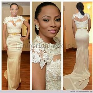 Nigerian Wedding: Toke Makinwa's Wedding Dress By April by ...