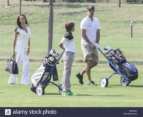 Maybe you would like to learn more about one of these? Michael Ballack mit Sohn Emilio und Freundin Natacha Stockfotografie - Alamy