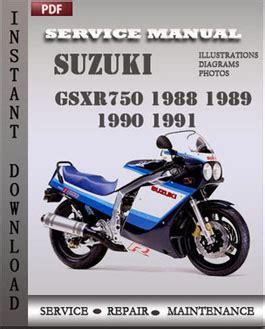 suzuki gsxr750 1988 1989 1990 1991 workshop repair manual pdf servicerepairmanualdownload