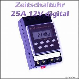 Solar Inselanlage Berechnen : zeitschaltuhr 12v 25a timer digital f r hutschiene und aufputz ~ Themetempest.com Abrechnung