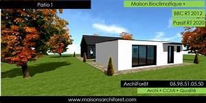 maison toit plat et toiture terrasse bac acier ou siplast With lovely maison bois toit plat 12 maison contemporaine avec patio