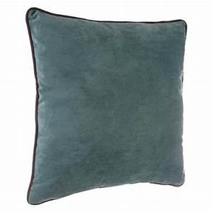 Coussin Velours Bleu : coussin en velours mood 40x40cm bleu ~ Teatrodelosmanantiales.com Idées de Décoration