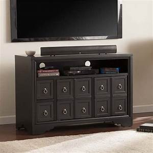 Southern enterprises rexland tv stand in black and brushed for In home furniture enterprise