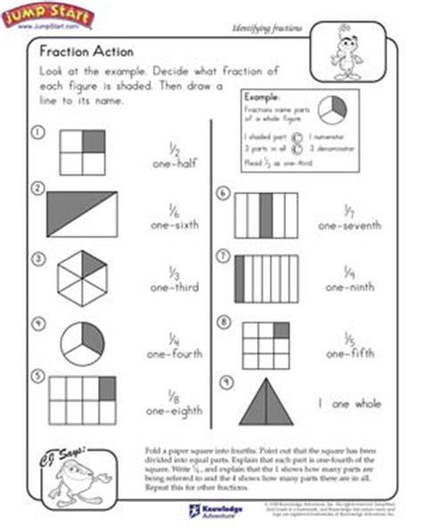 fraction 2nd grade math worksheets jumpstart