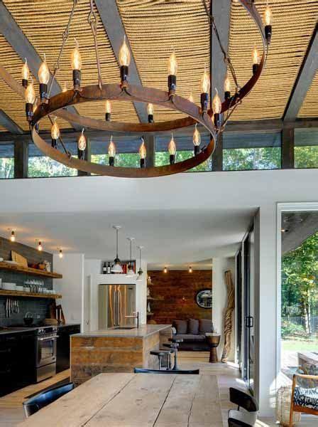 modern interior design ideas natural rope ceiling design