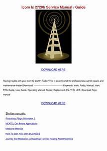 Icom Ic 2720h Service Manual Guide By Ngan Sobran