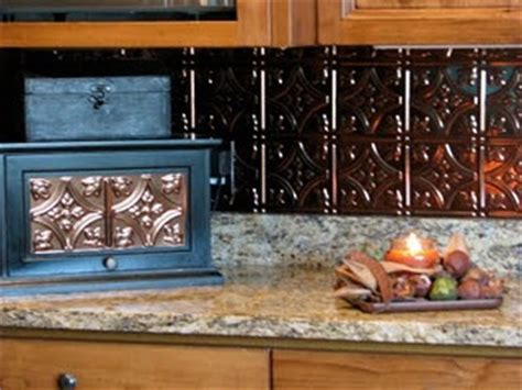 faux tin backsplash yes ideas inspirations for our