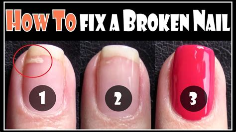 fix  broken nail repair  split nails easy